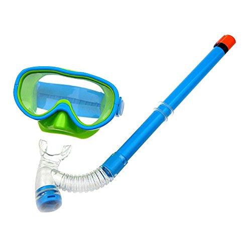 Baiyu Children Kids Diving Mask + Dry Top Snorkel Windows Toughened Tempered Goggles Swimming Snorkeling Glass Junior Masks Watertight Anti Fog Diving Equipment Sky - Diving Glasses Sky