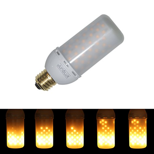 JUNOLUX LED Creative Lighting Bulbs Flame Light Burning Effect Decorative Fire Flickering Simulation,Christmas Decorations,Pack of 1 (E26) (Downward)]()