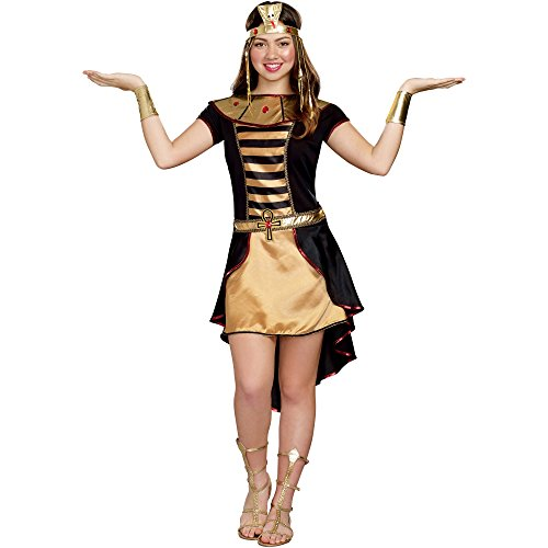 Cleopatra Costumes For Teenager (Juniors Teen Black & Gold Cleo Cutie Cleopatra Dress Costume (Juniors Size Large 13/15))