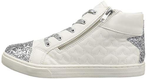 The Children's Place Girls' High Top Sneaker, White, TDDLR 7 Child US Toddler by The Children's Place (Image #5)