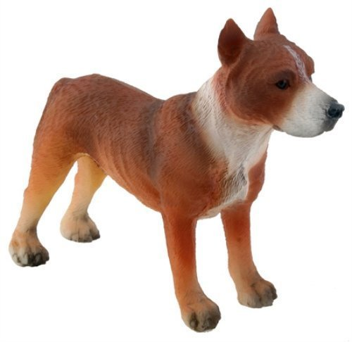 (American Pitbull Terrier Dog - Collectible Figurine Statue Figure)