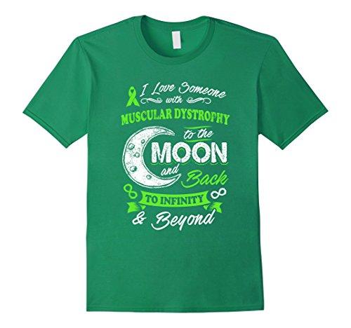 Mens Muscular Dystrophy Awareness Moon Back Love T Shirt Xl Kelly Green