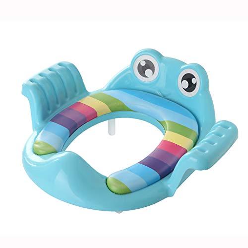 Ktyssp New Cute Toddler Children Kids Potty Training Seat Baby Soft Cushion Toilet Seat (Blue)