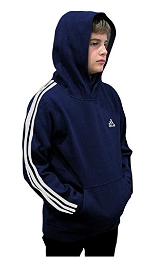 Outerstuff adidas Youth Fleece Collection (Youth Medium 10/12, Fleece Pullover Hoodie, Navy/White) by Outerstuff