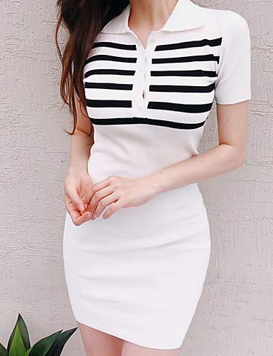 13052707d Amazon.com: YFLTZ Women's Boho Sweater Dress Black & White,White,One ...