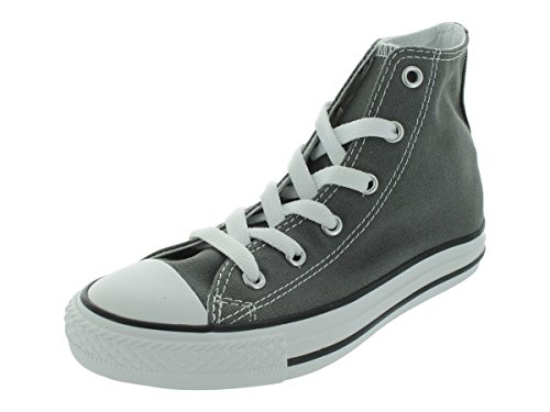 Converse Chuck Taylor All Star Canvas High Top Sneaker, Charcoal, 2 M US Little Kid -