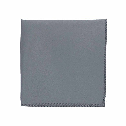 Spencer J's Satin Pocket Squares Handkerchief Boys and Mens (Platinum Silver)