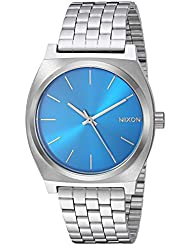 Nixon Mens Time Teller Quartz Stainless Steel Casual Watch, Color:Silver-Toned (Model: A0452797)