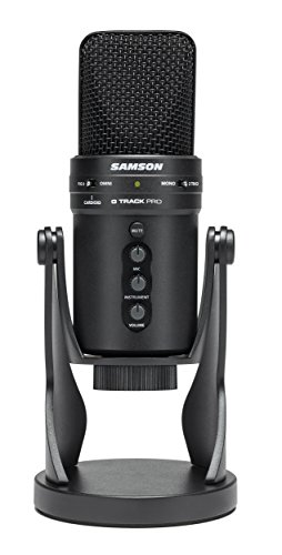 G-track Usb Mic (Samson G-Track Pro Professional USB Microphone with Audio Interface)
