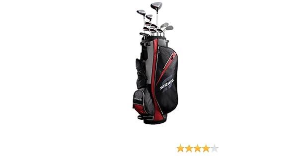 STRATA Callaway Juego de Palos de Golf y Bolsa (16 Piezas), Color Gris y Plateado Negro Negro/Rojo Talla:8 kg
