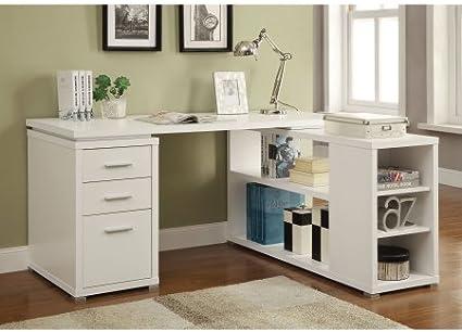 Escritorio en forma de L reversible, varios colores, muebles de ...