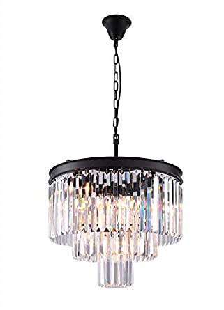 Zgear 7 Lights Luxury Modern Contemporary Crystal Chandelier Ceiling Light Pendant Light for Dining Room, Living Room 7 Lights