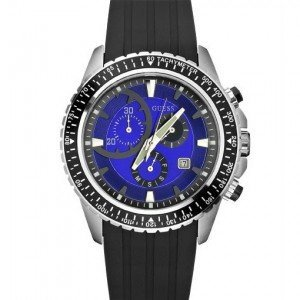 Guess Chronograph Resin Band Mens Watch - W16545G3