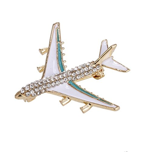 Botrong® Vintage Women Man Resin Airplane Brooches Pins Airplane Brooch Pin Collection (Style B)
