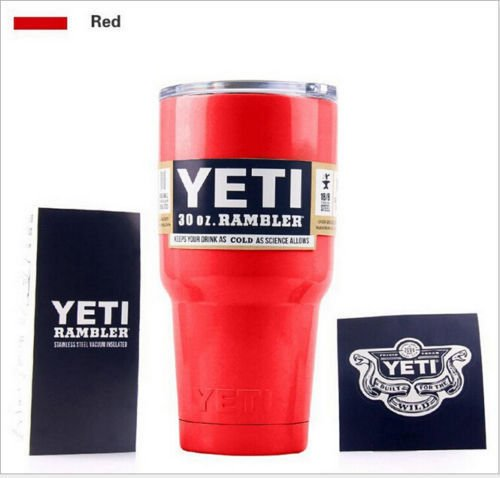 Yeti Rambler 30oz Red Stainless Steel Tumbler Insulated Coffice Mug Cup