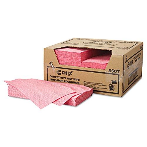 "Chicopee CHI 8507 Chix 24"" Length, 11.5"" Width, Pink Diamond Pattern Wet Wipe"