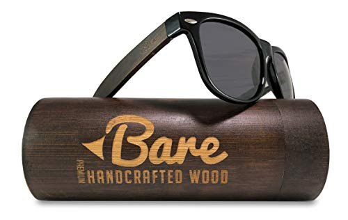 Bare Wood Sunglasses Polarized - 100% UV400 Polarized Lens - Premium Real Wood Quality with Case
