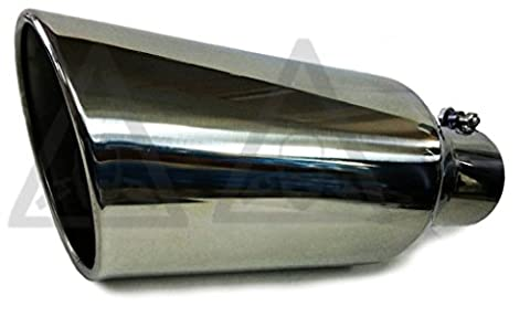 Bolt - On Rolled Edge Stainless steel Diesel Truck Exhaust Tip 5