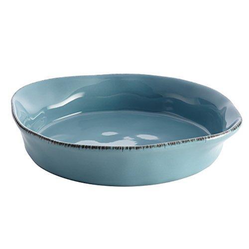 Rachael Ray Cucina Stoneware 1.5-Quart Round Baker, Agave - Baker Quart 1.5 Round