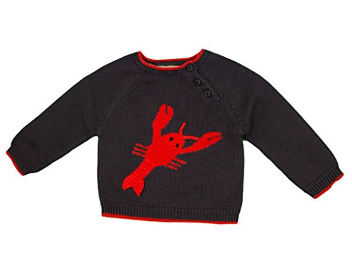 - Zubels 100% Hand-Knit Larry the Lobster Sweater All Natural Fibers