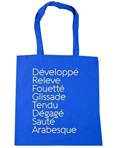 HippoWarehouse Blue x38cm 42cm 10 litres Bag Beach Terms Tendu Glissade Gym Sauté Tote Développé Dégagé Arabesque Shopping Cornflower Releve Fouetté Ballet CrR1pCa