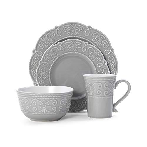 Pfaltzgraff Abby 16-Piece Dinnerware Set, gray