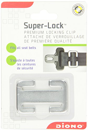 Diono Super-Lock, Secures Lap or Shoulder Belt in Place for Child Car Seats, Steel (Nickel Super Gem)
