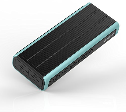 Monpos (Sport 3) Bluetooth Speaker with Built-in Mic,10W Dual-Driver, Flash Light with Power bank Outdoor Water Resistant IPX5 Portable Wireless Speaker with Superior Sound, rich bass. (SP3 Blue) by Uleader