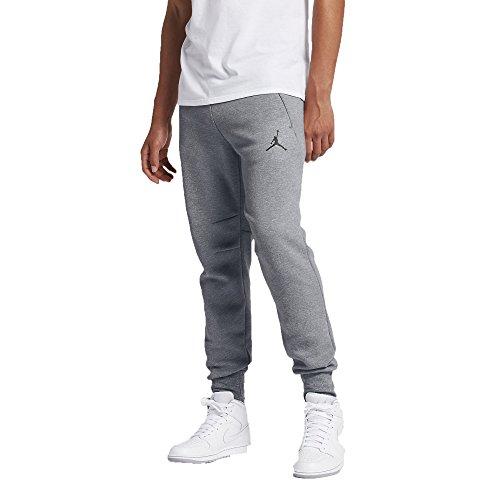 Jordan Icon Fleece Cuffed Sweatpants (XL, Cool Grey/Black)