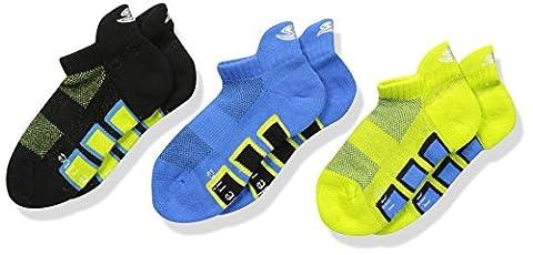 Stride Rite Girls' Little Boys' 3pk Sport Made 2 Play Comfort Seam No Show, Black, 6-7.5 (Shoe Size 7-10)