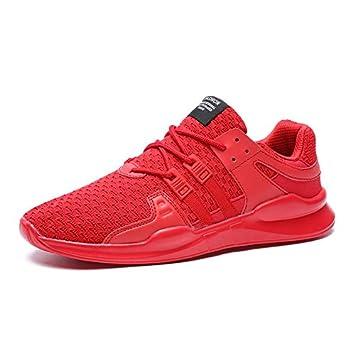 LOVDRAM Zapatos para Hombres Zapatillas De Deporte Voladoras Jóvenes Estudiantes Zapatillas De Deporte Zapatos Transpirables Salvajes Tamaño Grande, Rojo, ...