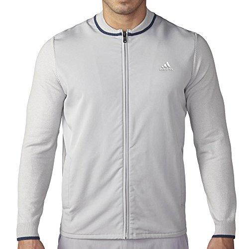 adidas Golf Men's Range Hybrid Sweater Jacket, Stone, Small