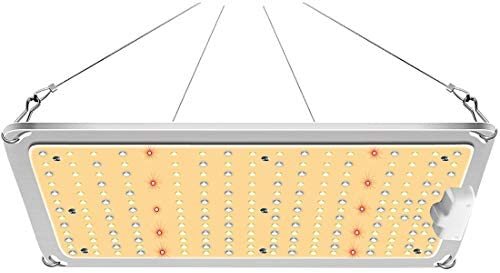 MIXJOY GL-1000 LED Grow Light with High-Efficiency Samsung LM301B Mean Well Driver, 110W Sunlike Full Spectrum LED Panel Grow Lights for Hydroponic Indoor Plants Veg and Flower Growing Lamp
