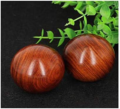 Ashy-wlj フィットネスボール、赤、ローズウッドの健康ハンドボール、中年や高齢者の木製ソリッドボール、5センチメートルに中年や高齢者の贈り物に1を与えるために、手持ち玉* 5センチメートル (サイズ : 5.0cm)