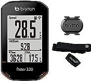 "Bryton Rider 320T GPS Computer Cycle 2.3"" Display with Cadence Sensor and Heart Band,"