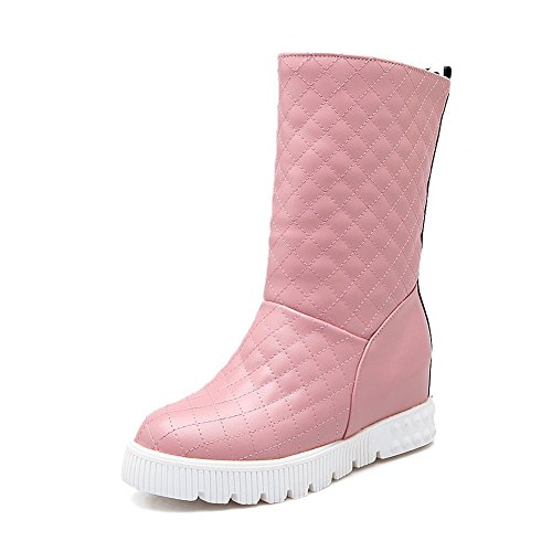 Pink Leather Heighten Inside Platform Womens 1TO9 Boots Imitated 46nX0qgTxw