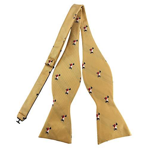 PenSee Animal Jacquard Pattern Bow Ties