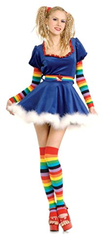 (Rubies Womens Storybook Rainbow Girl Brite Sequin Doll Theme Party Costume, S)