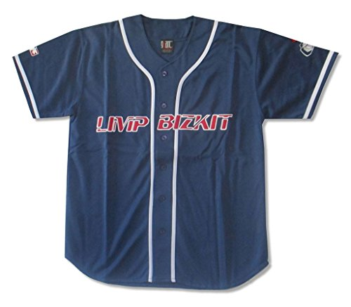 Limp Bizkit Fred Durst Embroidered Baseball Jersey Shirt (XL) (Down Jersey Embroidered Button)