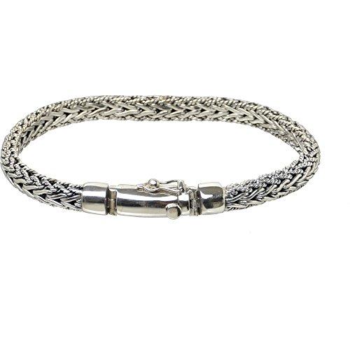 Bouddha to Light Biker Bracelet Argent Sterling Handmade Wire semi-circulaire eie 309eur