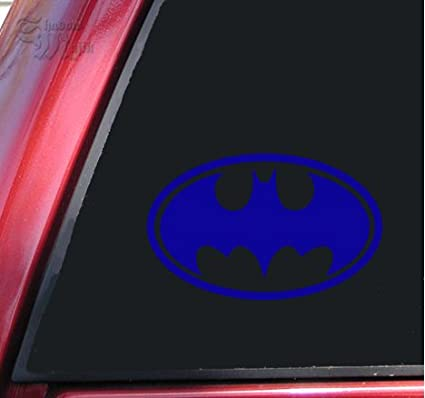 Amazon Batman Bat Symbol Vinyl Decal Sticker 4 X 26 Blue