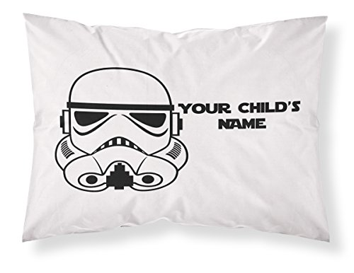 Customizable, StarWars Themed Pillowcase, Featuring A Stormtrooper! Personalized With Your Child's Name - Perfect Gift For Boys Of All Ages! ()