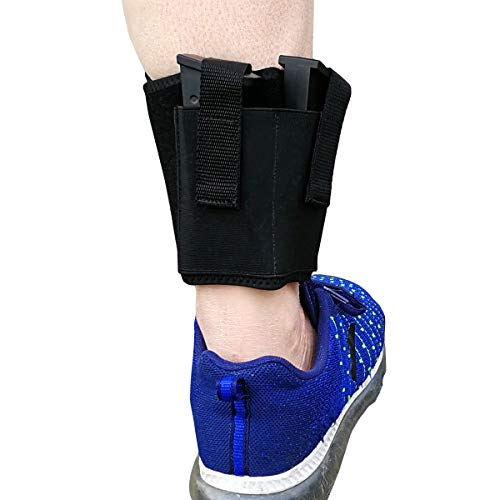 topmeet Ankle/Arm/Leg Magazine Gun Holder/Holster for Glock Pistol,with 2 Mag Pouches - - Leg Magazine