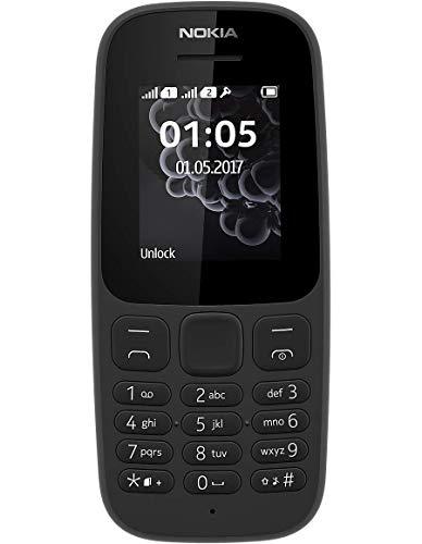 Nokia 105 Single SIM Mobile Phone (2017 Edition) - Black