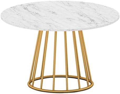 Kopen SZQ kleine bijzettafel van ijzer, rond, voor kleine salontafel, creatief, marmeren decoratie, prachtig gemêleerd 50 * 50 * 45CM  RM6izlk