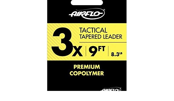 AirFlo Tactical Tapered Mono Leader 3 Pack 5X