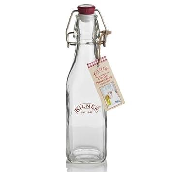Kilner Clip cuadrado de botella 250 ml | Kilner botellas de conserva botella, decantador botella