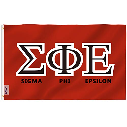 Anley Fraternities and Sororities Custom Flag 2 x 3 Foot, Greek Letters Customized Flags - Vivid Color, Canvas Header and Double Stitched - 100D Polyester with Brass Grommets 2 X 3 Ft