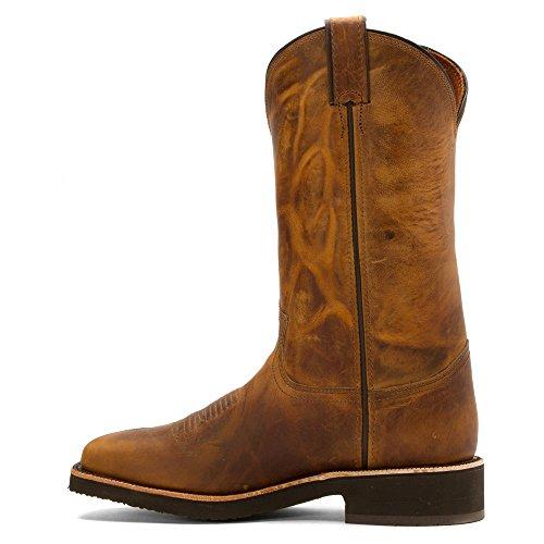 Chippewa Mens 12 Square Toe 29324 Pull Boot Brown
