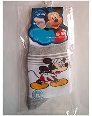 Mickey Socks, White/Grey, 22-24 cm
